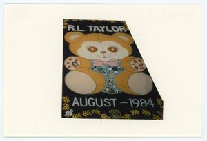 Primary view of object titled '[AIDS Memorial Quilt Panel for R.L. Taylor]'.
