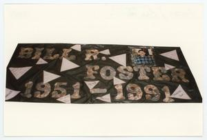 Primary view of object titled '[AIDS Memorial Quilt Panel for Bill R. Foster]'.