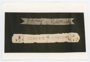 Primary view of object titled '[AIDS Memorial Quilt Panel for Johnny Ramirez]'.