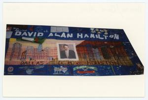 Primary view of object titled '[AIDS Memorial Quilt Panel for David Alan Hamilton]'.