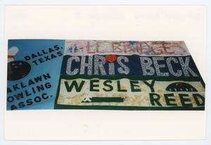 Primary view of object titled '[AIDS Memorial Quilt Panel for Oak Lawn Bowling Association I]'.