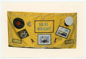 Primary view of object titled '[AIDS Memorial Quilt Panel for Neal Wright]'.