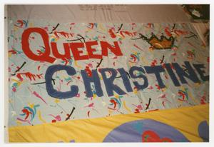 Primary view of object titled '[Quilt Section Dedicated to Queen Christine]'.