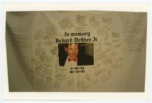 Primary view of object titled '[AIDS Memorial Quilt Panel for Richard McGhee Jr.]'.