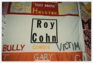 Primary view of object titled '[Quilt Panel for Roy Cohn]'.