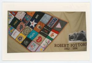Primary view of object titled '[AIDS Memorial Quilt Panel for Robert Pottorf]'.