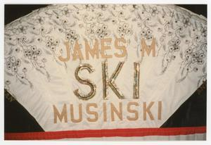 Primary view of object titled '[Quilt Panel Dedicated to James M. Musinski]'.