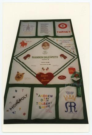 Primary view of object titled '[AIDS Memorial Quilt Panel for Shannon Dale Smith]'.