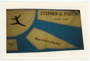 Primary view of object titled '[AIDS Memorial Quilt Panel for Stephen G. Foster]'.