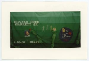 Primary view of object titled '[AIDS Memorial Quilt Panel for Donald Fred Garrett JR.]'.