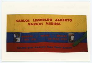 Primary view of object titled '[AIDS Memorial Quilt Panel for Carlos Leopoldo Alberto Vargas Medina]'.