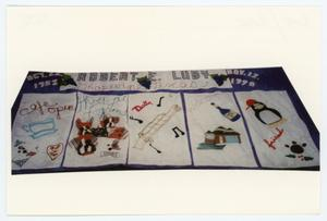 Primary view of object titled '[AIDS Memorial Quilt Panel for Robert Luby]'.