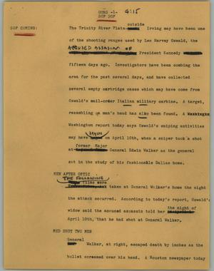 Primary view of object titled '[News Script: Guns]'.