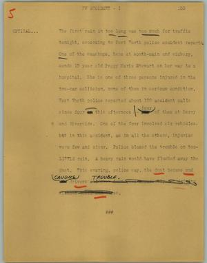 Primary view of object titled '[News Script: FW accident]'.
