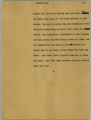 Primary view of [News Script: Brother Bill]