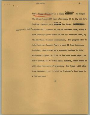 Primary view of object titled '[News Script: Crutcher]'.
