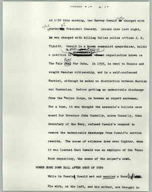 Primary view of object titled '[News Script: Suspext]'.