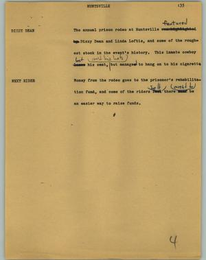 Primary view of object titled '[News Script: Huntsville]'.