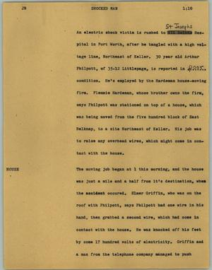Primary view of object titled '[News Script: Shocked man]'.