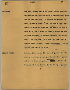 Primary view of object titled '[News Script: Catfish]'.