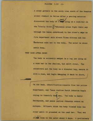 Primary view of object titled '[News Script: Floater]'.