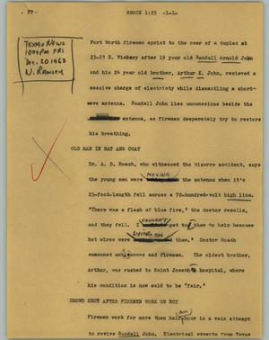 Primary view of object titled '[News Script: Shock]'.