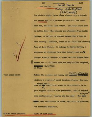 Primary view of object titled '[News Script: NHU]'.