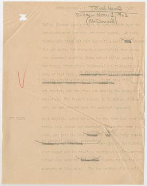 Primary view of object titled '[News Script: Formaldehyde]'.
