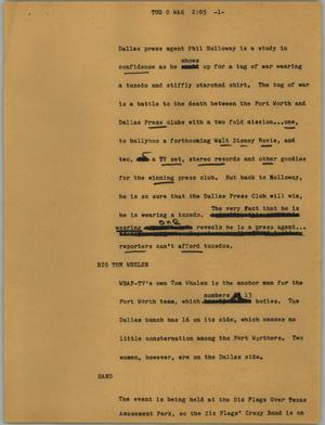 Primary view of object titled '[News Script: Tug o war]'.