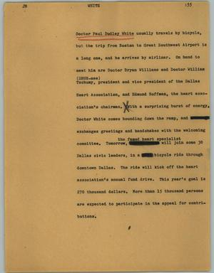 Primary view of object titled '[News Script: White]'.