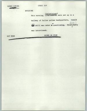 Primary view of object titled '[News Script: Curry SOF]'.