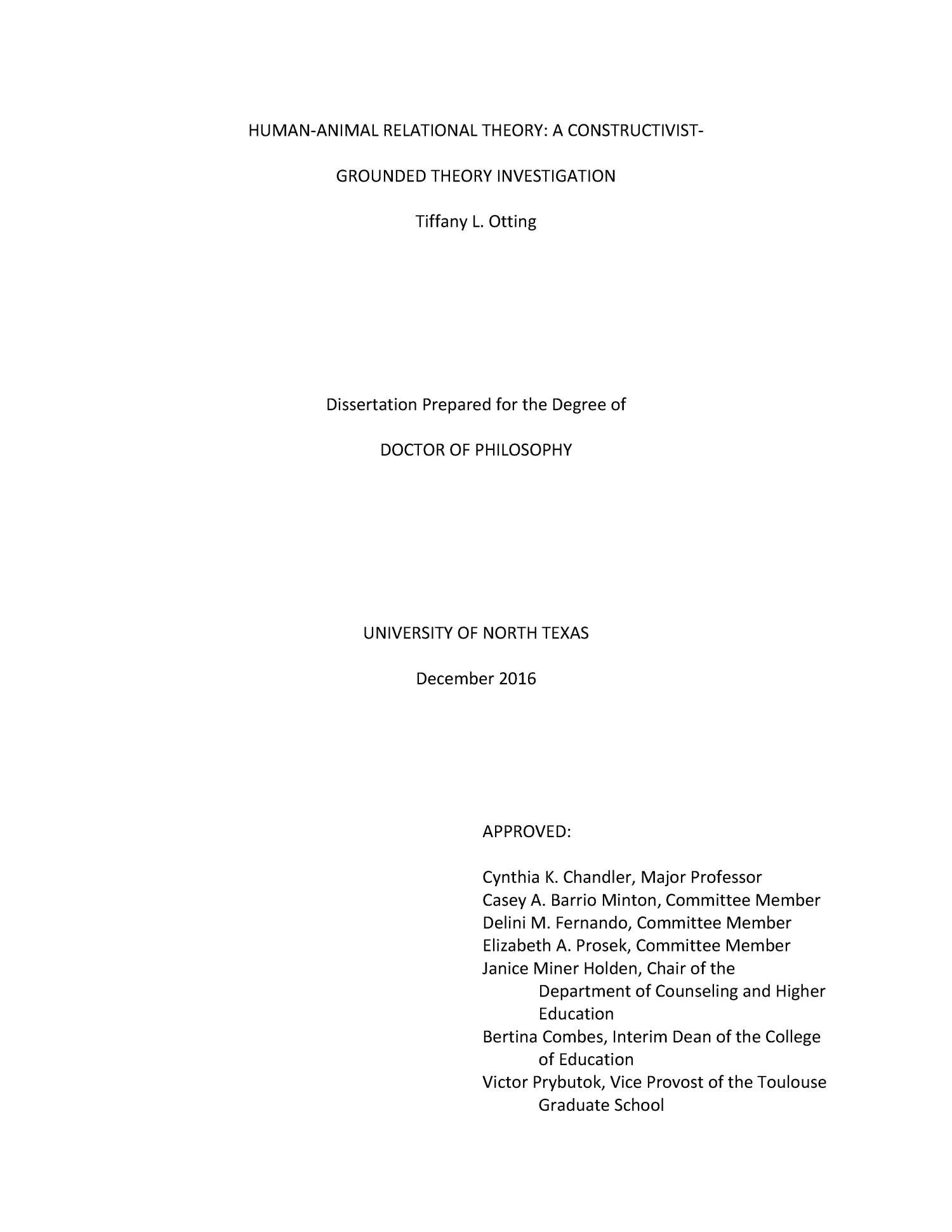 Constructivist grounded theory dissertation