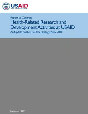 Primary view of object titled 'USAID Health-Related Research and Development Progress Report: 2009'.