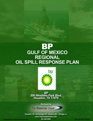 Primary view of object titled 'Regional Oil Spill Response Plan'.