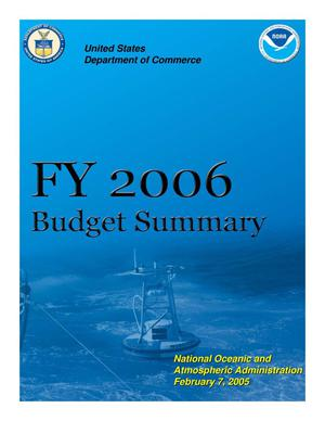 Primary view of object titled 'FY 2006 Budget Summary'.