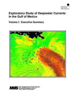 Primary view of object titled 'Exploratory Study of Deepwater Currents in the Gulf of Mexico, Volume 1: Executive Summary'.