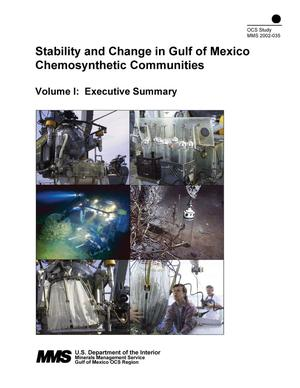 Primary view of object titled 'Stability and Change in Gulf of Mexico Chemosynthetic Communities, Volume 1: Executive Summary'.