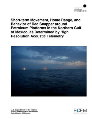 Primary view of object titled 'Short-term Movement, Home Range, and Behavior of Red Snapper around Petroleum Platforms in the Northern Gulf of Mexico, as Determined by High Resolution Acoustic Telemetry'.