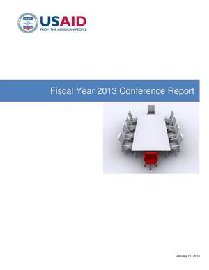 Primary view of object titled 'Fiscal Year 2013 Conference Report'.