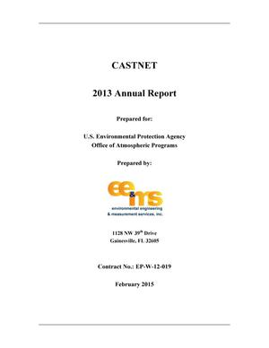 Primary view of object titled 'CASTNET Annual Report: 2013'.