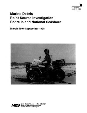 Primary view of object titled 'Marine Debris Point Source Investigation: Padre Island National Seashore'.