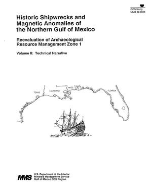 Primary view of object titled 'Historic Shipwrecks and Magnetic Anomalies of the Northern Gulf of Mexico: Reevaluation of Archaeological Resource Management Zone 1, Volume 2: Technical Narrative'.