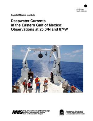 Primary view of object titled 'Deepwater Currents in the Eastern Gulf of Mexico: Observations at 25.5°N and 87°W'.
