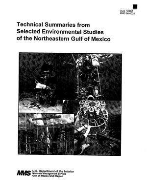Primary view of object titled 'Technical Summaries from Selected Environmental Studies of the Northeastern Gulf of Mexico'.