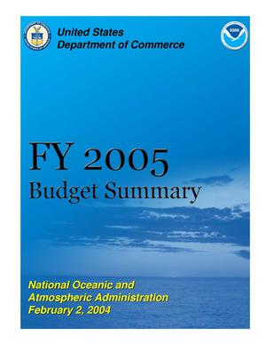 Primary view of object titled 'FY 2005 Budget Summary'.