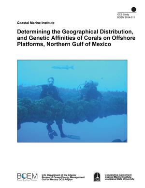 Primary view of object titled 'Determining the Geographical Distribution, and Genetic Affinities of Corals on Offshore Platforms, Northern Gulf of Mexico'.