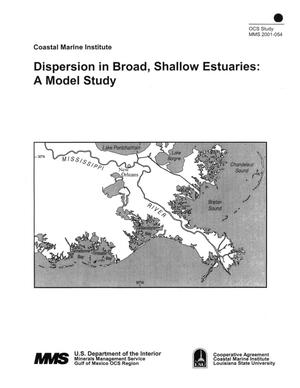 Primary view of object titled 'Dispersion in Broad, Shallow Estuaries: A Model Study'.
