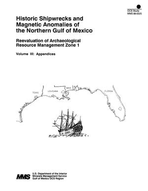 Primary view of object titled 'Historic Shipwrecks and Magnetic Anomalies of the Northern Gulf of Mexico: Reevaluation of Archaeological Resource Management Zone 1, Volume 3: Appendices'.