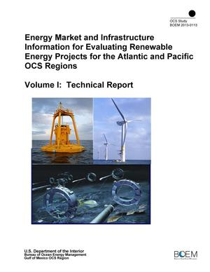 Primary view of object titled 'Energy Market and Infrastructure Information for Evaluating Renewable Energy Projects for the Atlantic and Pacific OCS Regions, Volume 1: Technical Report'.