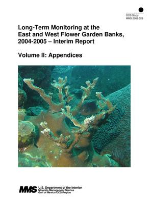 Primary view of object titled 'Long-Term Monitoring at the East and West Flower Garden Banks, 2004-2005 -- Interim Report, Volume 2: Appendices'.